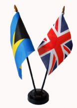 UNION JACK / BAHAMAS - Friendship Table Flags